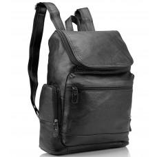 Мужской кожаный рюкзак черный Tiding Bag M35-1017A - Royalbag