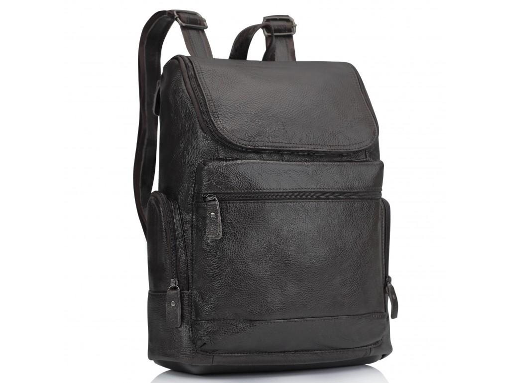 Мужской кожаный рюкзак коричневый Tiding Bag M35-1017B - Royalbag Фото 1