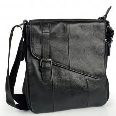 Сумка мужская кожаная черная Tiding Bag M35-1036A - Royalbag