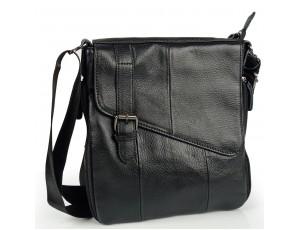 Сумка чоловіча шкіряна чорна Tiding Bag M35-1036A - Royalbag