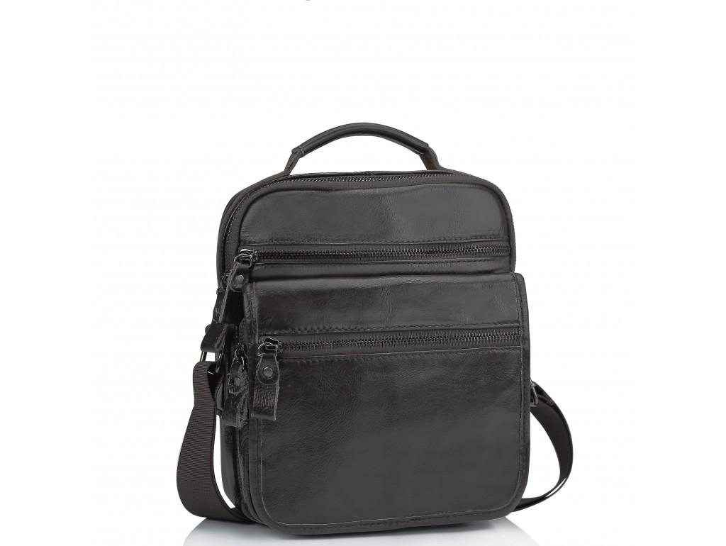 Мужская кожаная сумка-барсетка на плечо коричневая Tiding Bag M35-8852B - Royalbag Фото 1