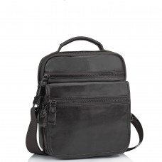 Мужская кожаная сумка-барсетка на плечо коричневая Tiding Bag M35-8852B - Royalbag Фото 2