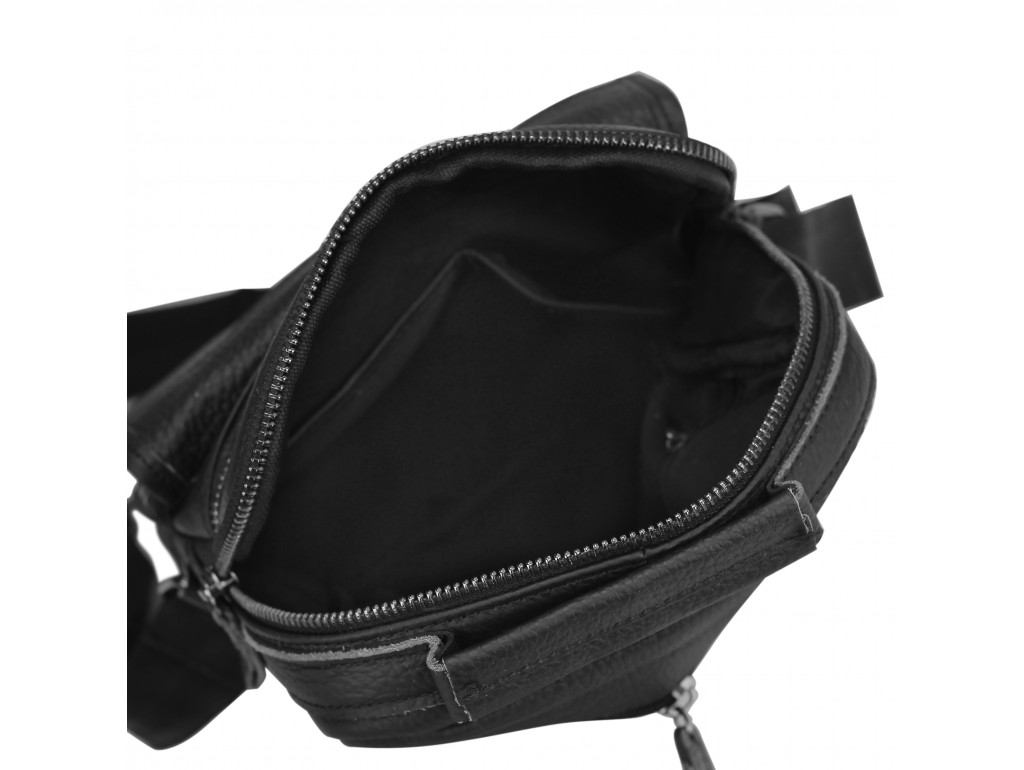 Чоловіча шкіряна сумка-барсетка на плече чорна Tiding Bag M35-8852A - Royalbag