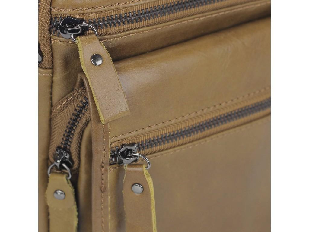 Мужская кожаная сумка через плечо коричневая Tiding Bag M35-8852LB - Royalbag