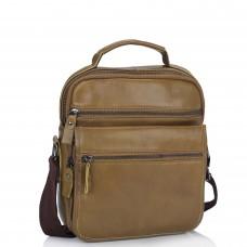 Мужская кожаная сумка через плечо коричневая Tiding Bag M35-8852LB - Royalbag Фото 2