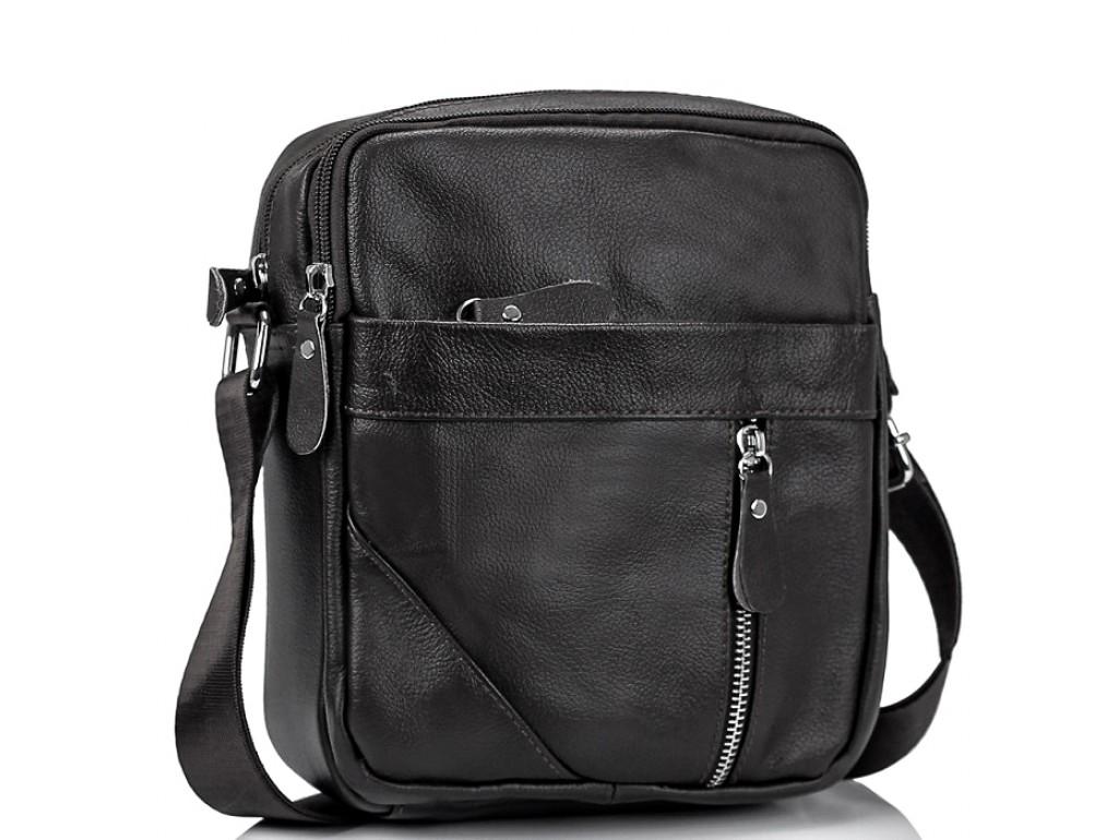 Мужская черная сумка через плечо Tiding Bag M38-1031A - Royalbag Фото 1