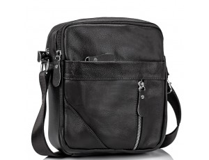 Мужская черная сумка через плечо Tiding Bag M38-1031A - Royalbag