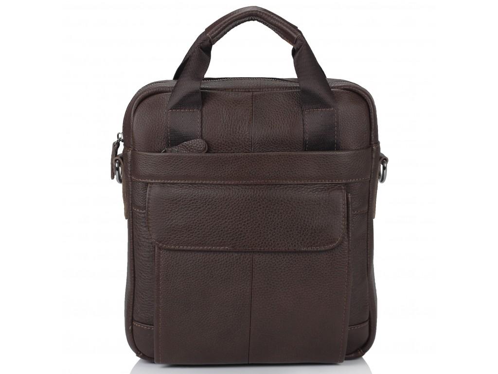 Мужская кожаная сумка с ручками и съемным ремнем Tiding Bag M38-8861B - Royalbag