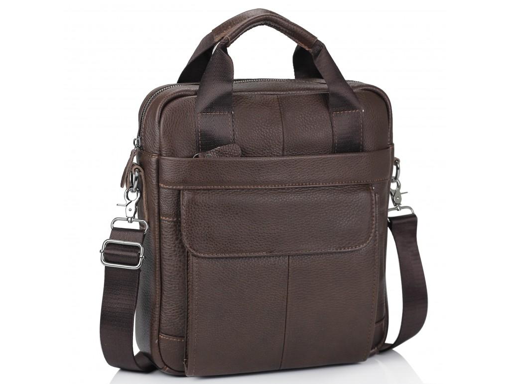 Мужская кожаная сумка с ручками и съемным ремнем Tiding Bag M38-8861B - Royalbag Фото 1