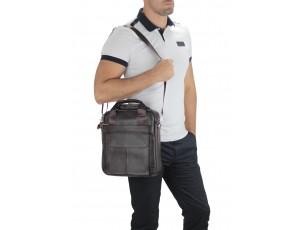 Сумка через плечо кожаная мужская Tiding Bag A25-8861DB - Royalbag