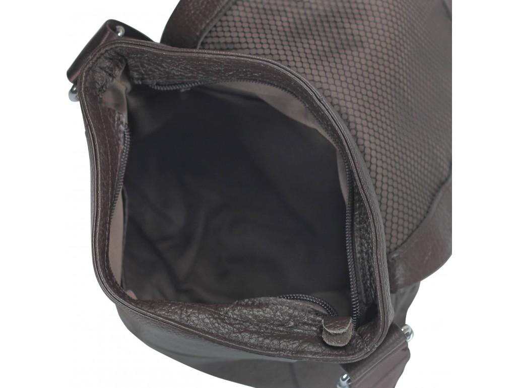 Кожаная мужская сумка через плечо коричневая Tiding Bag M38-9117-2B - Royalbag