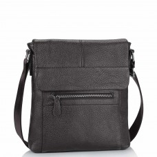 Кожаная мужская сумка через плечо коричневая Tiding Bag M38-9117-2B - Royalbag Фото 2
