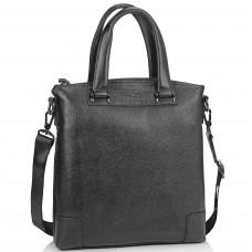 Кожаная черная сумка мужская с ручками Tiding Bag M38-9160-1A - Royalbag Фото 2