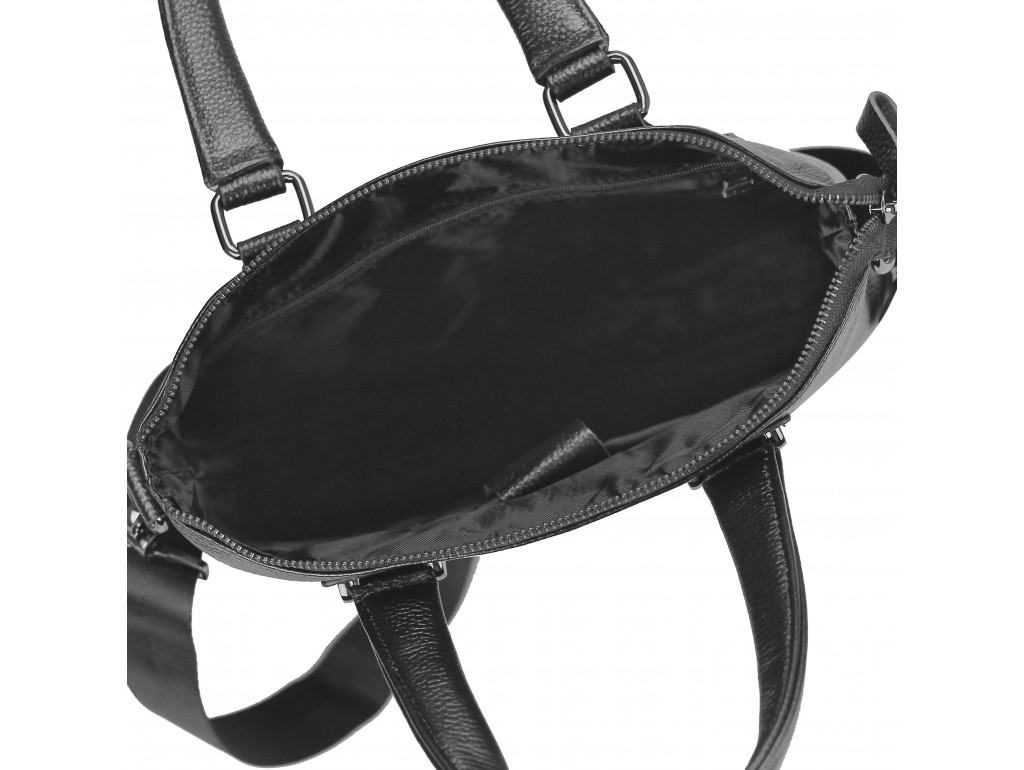 Кожаная черная сумка мужская с ручками Tiding Bag M38-9160-1A - Royalbag