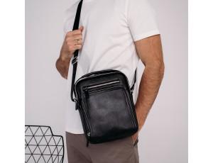 Барсетка чоловіча шкіряна через плече Tiding Bag M5608-1A - Royalbag