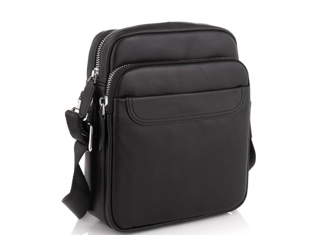 Мужская сумка через плечо из натуральной кожи Tiding Bag M6003A - Royalbag Фото 1
