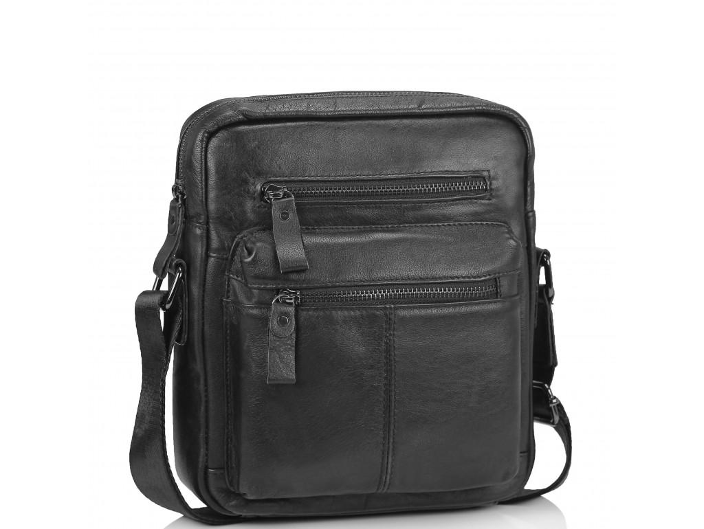 Черная мужская сумка-мессенджер Tiding Bag N2-0015A - Royalbag Фото 1