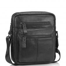 Черная мужская сумка-мессенджер Tiding Bag N2-0015A - Royalbag Фото 2