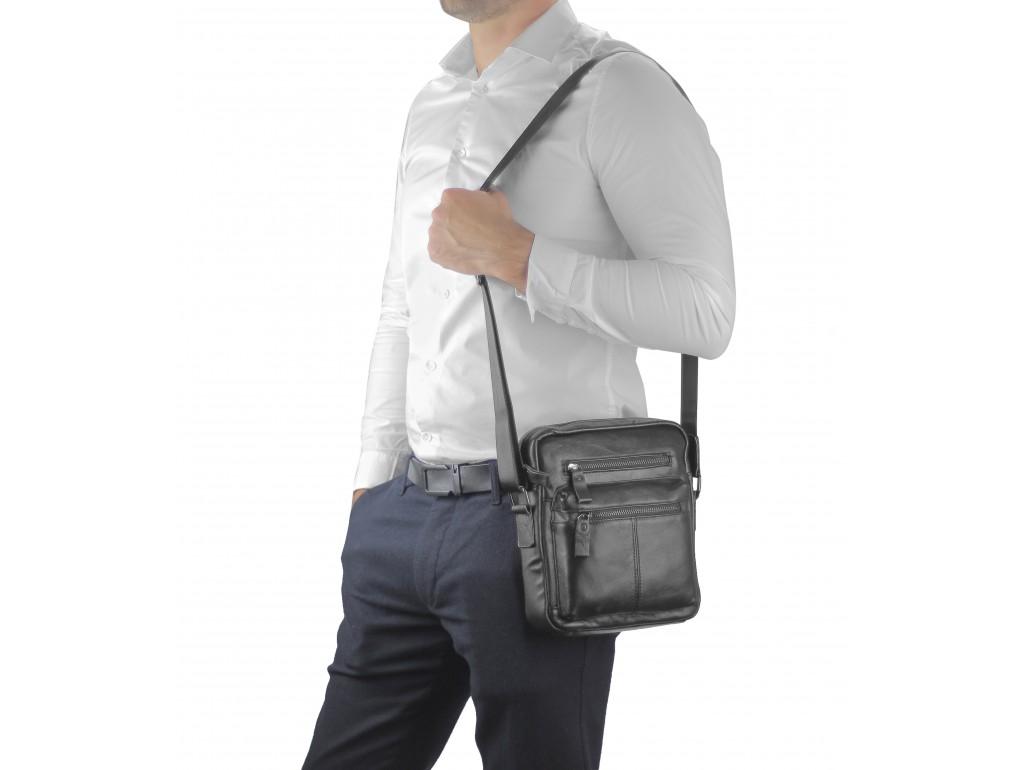 Черная мужская сумка-мессенджер Tiding Bag N2-0015A - Royalbag