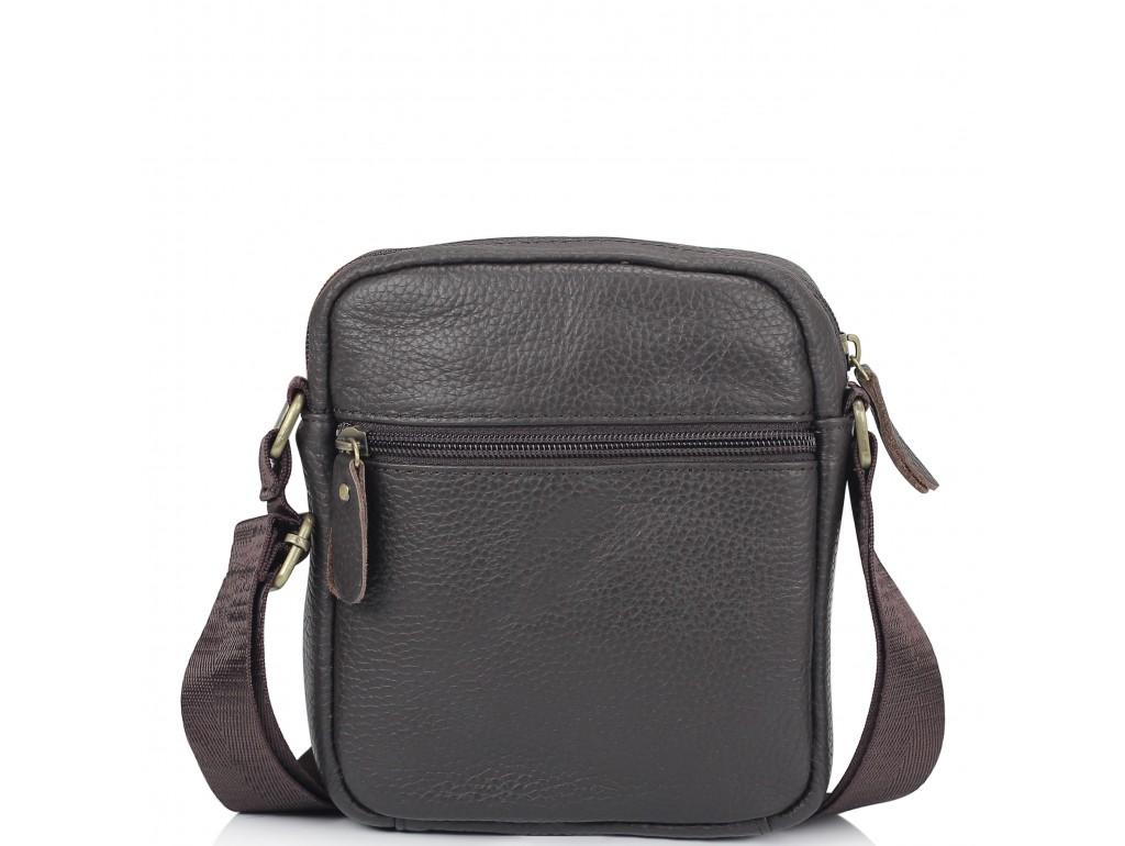 Мужская кожаная сумка коричневая через плечо Tiding Bag N2-1008DB - Royalbag
