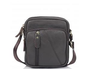 Чоловіча шкіряна сумка коричнева через плече Tiding Bag N2-1008DB - Royalbag