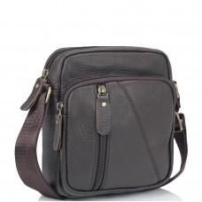 Мужская кожаная сумка коричневая через плечо Tiding Bag N2-1008DB - Royalbag Фото 2