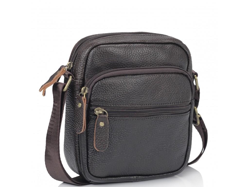 Мужская кожаная сумка-мессенджер через плечо Tiding Bag N2-1009DB - Royalbag Фото 1