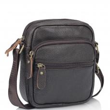 Мужская кожаная сумка-мессенджер через плечо Tiding Bag N2-1009DB - Royalbag Фото 2