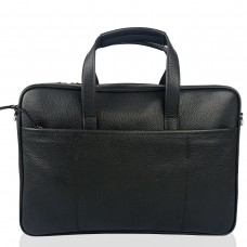 Сумка для ноутбука кожаная мужская черная Tiding Bag N2-1010A - Royalbag