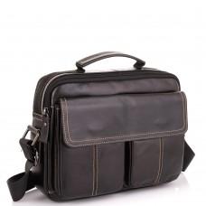 Горизонтальный кожаный мессенджер Tiding Bag N2-403DB - Royalbag Фото 2