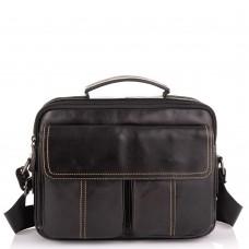 Горизонтальный кожаный мессенджер Tiding Bag N2-403DB - Royalbag