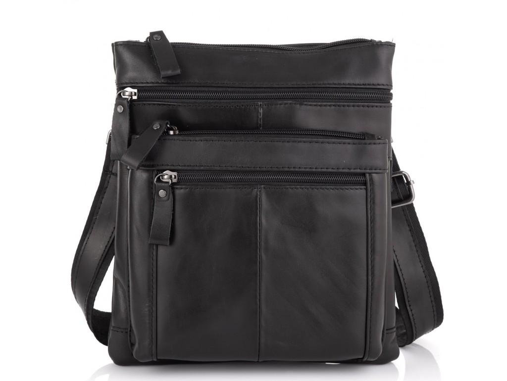 Черная мужская кожаная сумка через плечо Tiding Bag N2-8011A - Royalbag