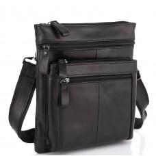 Черная мужская кожаная сумка через плечо Tiding Bag N2-8011A - Royalbag Фото 2