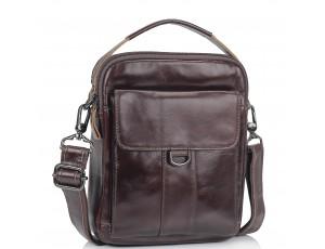 Коричневая сумка мессенджер через плечо Tiding Bag N2-8013DB - Royalbag
