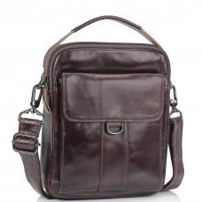 Коричневая сумка мессенджер через плечо Tiding Bag N2-8013DB - Royalbag Фото 2