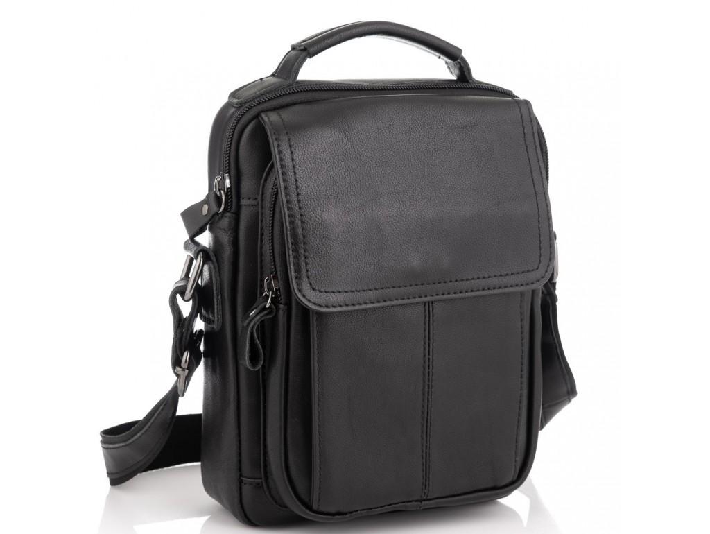 Мужская сумка через плечо черная Tiding Bag N2-8017A - Royalbag Фото 1