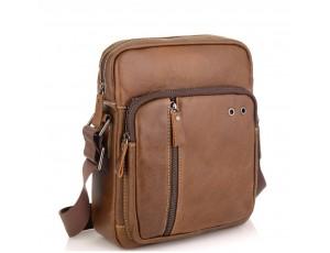 Мужская сумка через плечо из натуральной кожи светло коричневая Tiding Bag N2-9003B - Royalbag