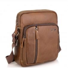 Мужская сумка через плечо из натуральной кожи светло коричневая Tiding Bag N2-9003B - Royalbag Фото 2