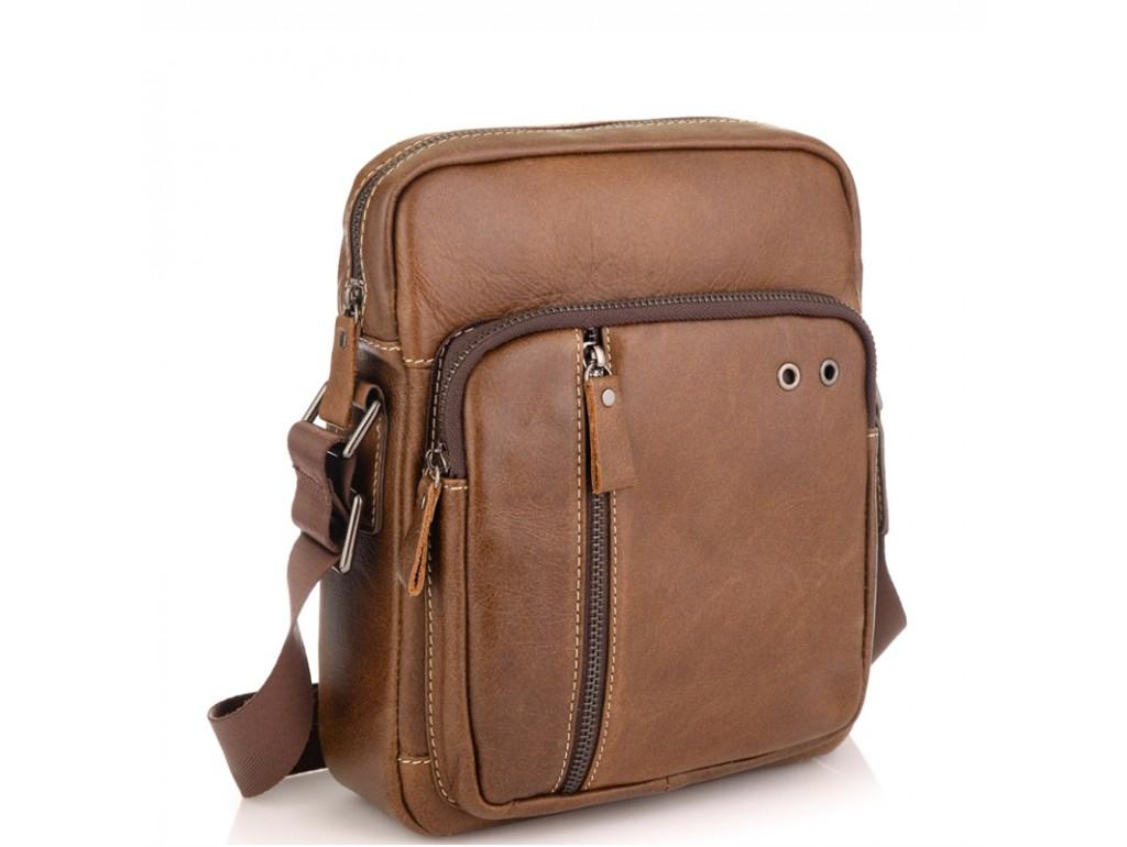 Мужская сумка через плечо из натуральной кожи светло коричневая Tiding Bag N2-9003B - Royalbag Фото 1