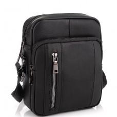 Мужская сумка через плечо черная из натуральной кожи Tiding Bag N2-9801-1A - Royalbag Фото 2