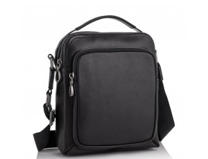 Мужская кожаная сумка-барсетка через плечо черная Tiding Bag NA50-1042A - Royalbag