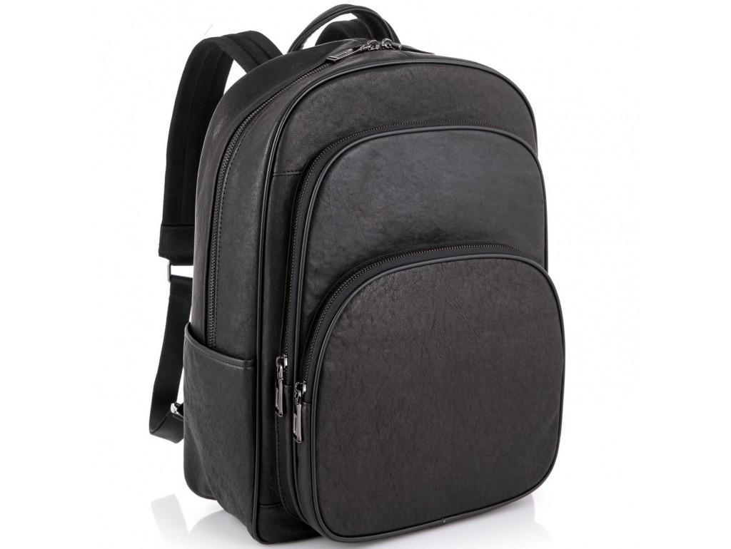 Кожаный черный мужской рюкзак Tiding Bag NM11-166A - Royalbag Фото 1