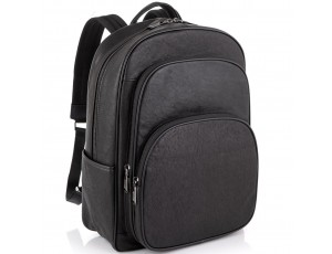 Шкіряний чорний чоловічий рюкзак Tiding Bag NM11-166A - Royalbag
