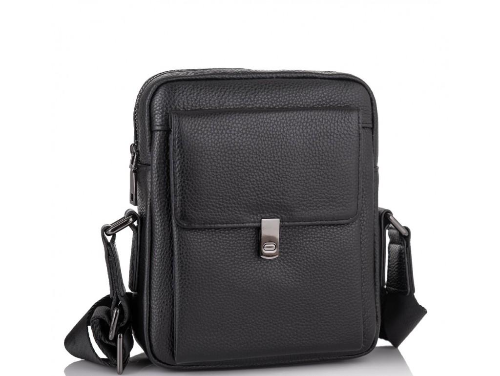 Мужской кожаный черный мессенджер-барсетка Tiding Bag NM11-2030A - Royalbag Фото 1
