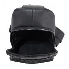 Мужской черный кожаный слинг Tiding Bag NM11-7526A - Royalbag