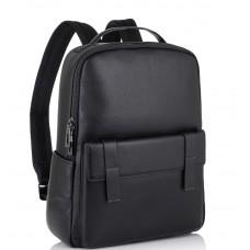 Молодіжний міський рюкзак натуральна шкіра чорний Tiding Bag NM11-7537A - Royalbag