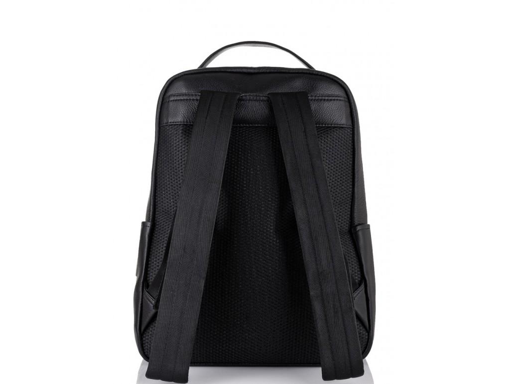Молодежный городской рюкзак натуральная кожа черный Tiding Bag NM11-7537A - Royalbag