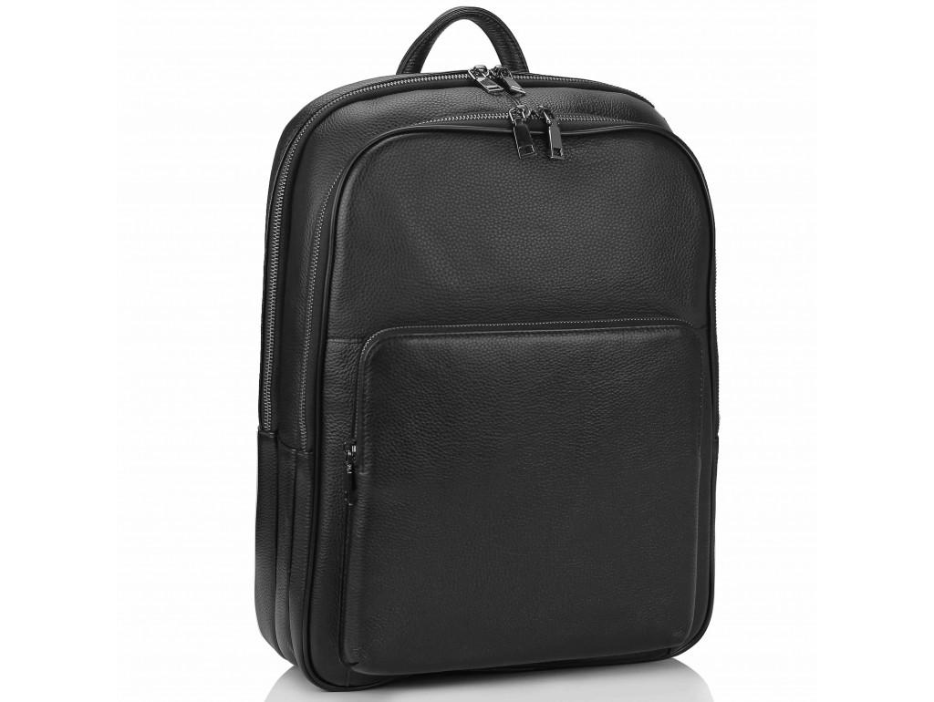 Чоловічий шкіряний рюкзак для ноутбука на два відділа Tiding Bag NM18-005A - Royalbag Фото 1
