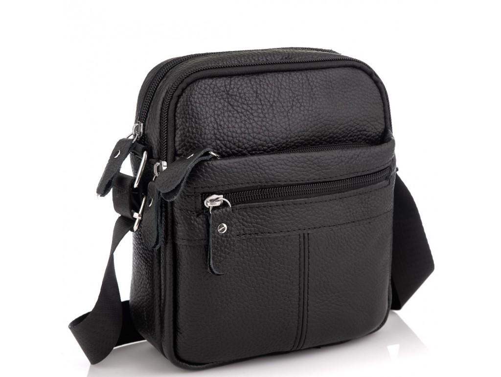 Сумка мужская черная через плечо Tiding Bag NM20-1811A - Royalbag Фото 1