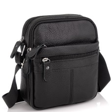 Сумка мужская черная через плечо Tiding Bag NM20-1811A - Royalbag Фото 2